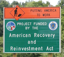 American Recovery and Reinvestment Act sign