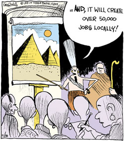 Pyramid Cartoon