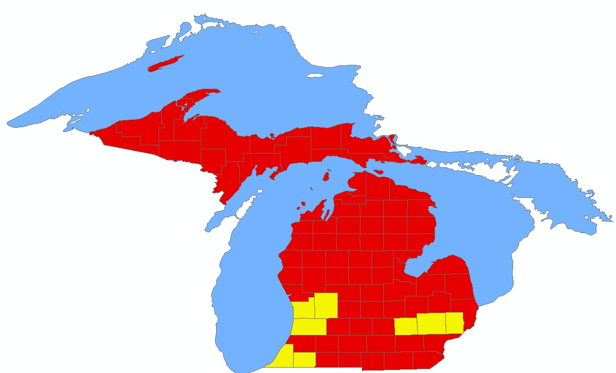 All but two michigan counties rejected proposal 2 michigan capitol county that does see map here freerunsca Image collections