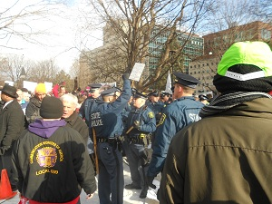 "Images from ""VIDEOS: Union Right-to-Work Protest Goes Violent"""