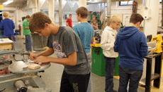 Calumet Students in Shop Class