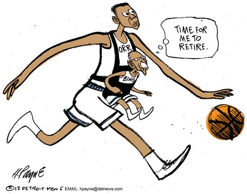 Henry Payne Cartoon - Bing Retire Orr