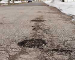 Michigan pothole