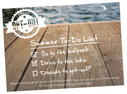 August MEA opt-out postcard